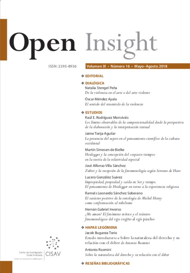 Open Insight vol. IX no. 16